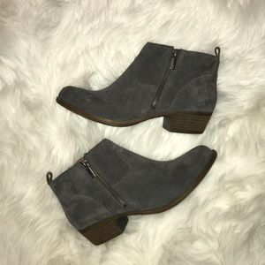 Lucky Brand Gray Suede Booties